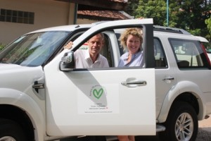 Sarah and David in newly donated vehicle