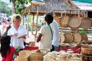Sarah at local market