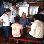 Dr. Andre Anzarut at floating clinic AHC outreach