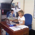 Sheila Anzarut working in AHC admin office