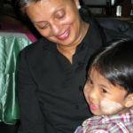 Nina with child