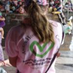 Lauren Jefferson at Tonle Sap Lake volunteering